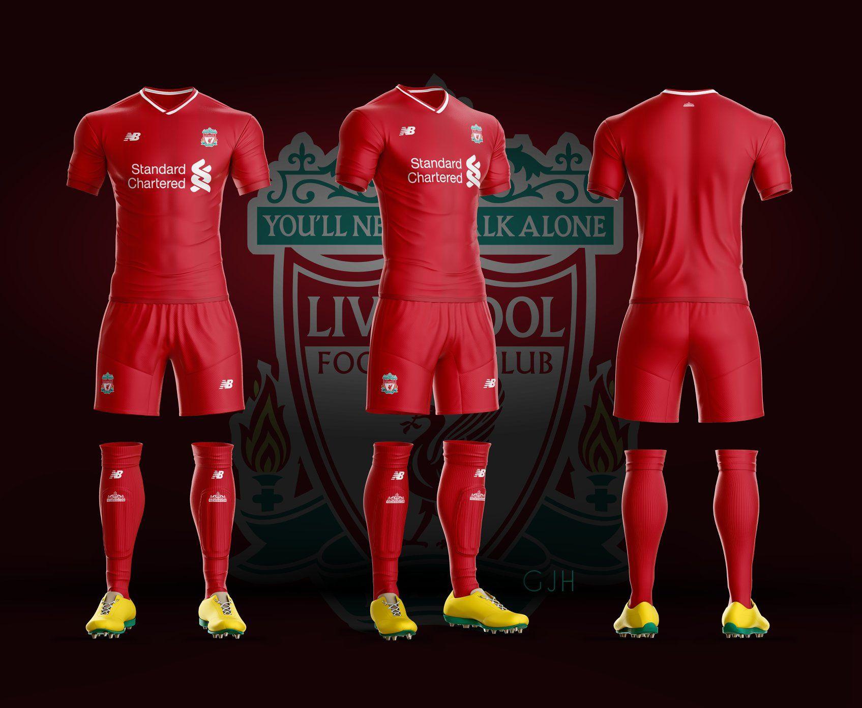 Soccer Uniform Liverpool Football Club Imaginary Uniform 2018 02