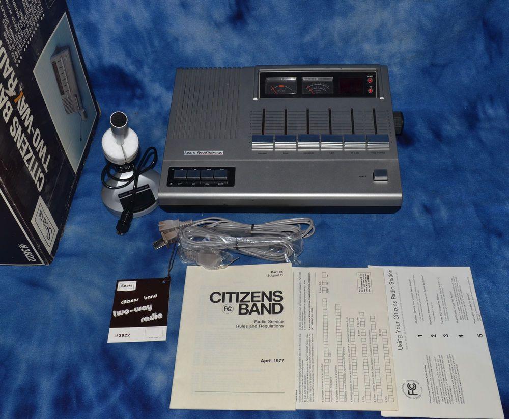 Vintage Sears RoadTalker 40 CB Radio Base Station NOS #Sears