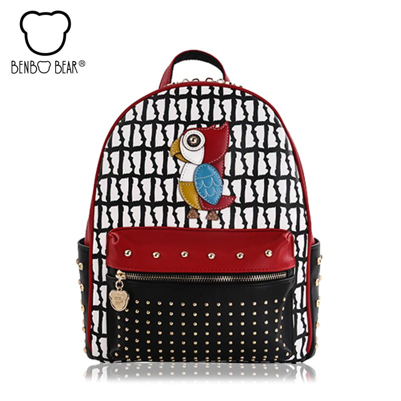 62b9af1ebc5 Rivet backpack for women girls 2017 new bird ladies female shoulder bags