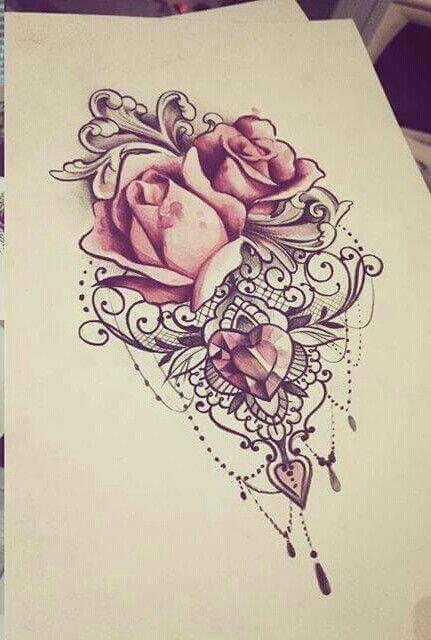 znalezione obrazy dla zapytania mandala rose tattoo. Black Bedroom Furniture Sets. Home Design Ideas