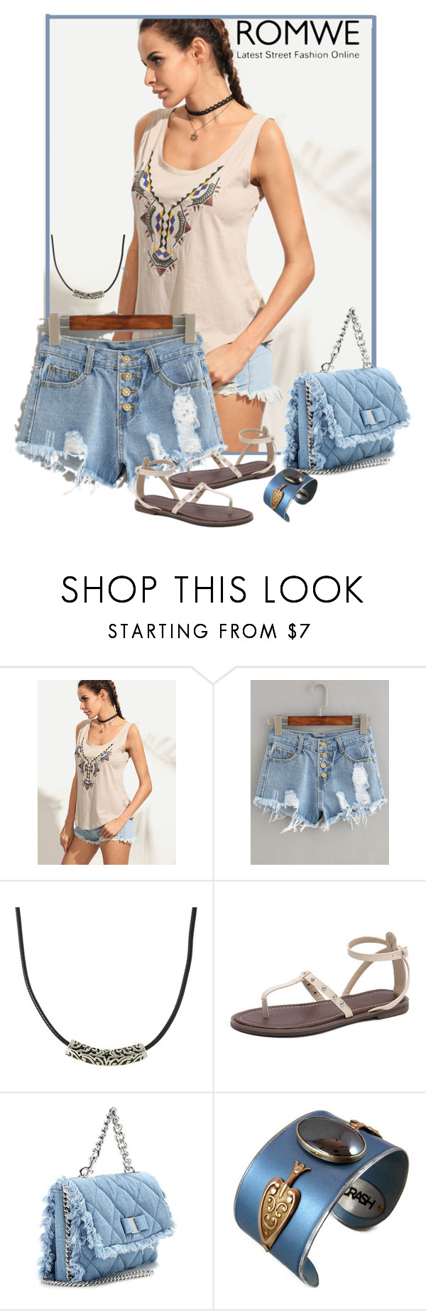 """""""Romwe Contest"""" by lorrainekeenan ❤ liked on Polyvore featuring Salvatore Ferragamo"""