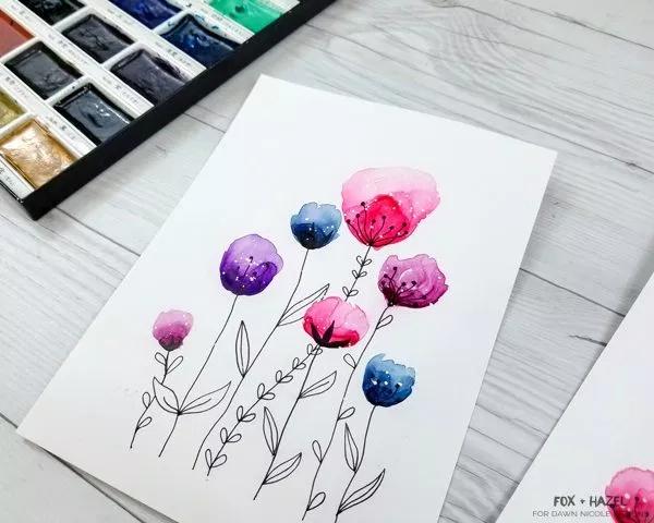 Easy Watercolor Flowers Step by Step Tutorial | Dawn Nicole