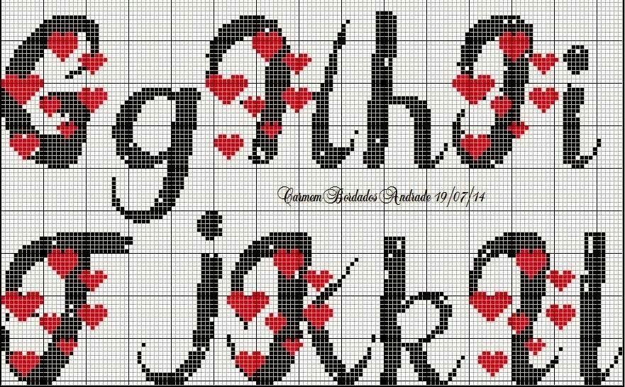 Letras - coração