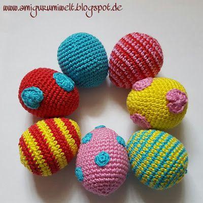 Wundervolle Amigurumi Welt: Ostereier, Easter Eggs - free pattern ...