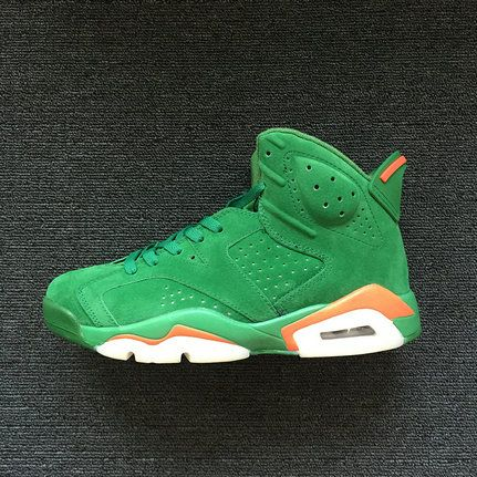 755bf250be6939 Popular AIR JORDAN 6 RETRO Gatorade Pine Green Orange Blaze-Pine Green
