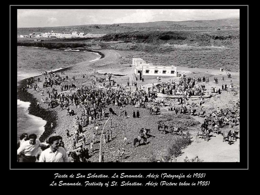 Fiesta de San Sebastian La Caleta 1955 Ni un hotel!!