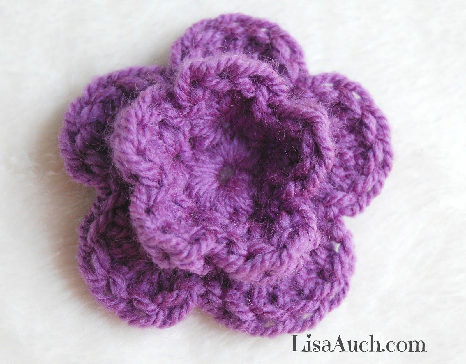How to crochet a small double layer 3d flower in 8 easy steps by how to crochet a small double layer 3d flower in 8 easy steps by lisa auch bankloansurffo Images