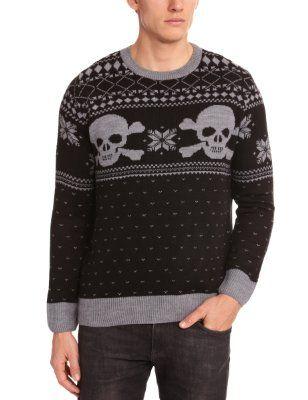 Run & Fly Unisex Adult Skull N Crossbones Fairisle Christmas ...