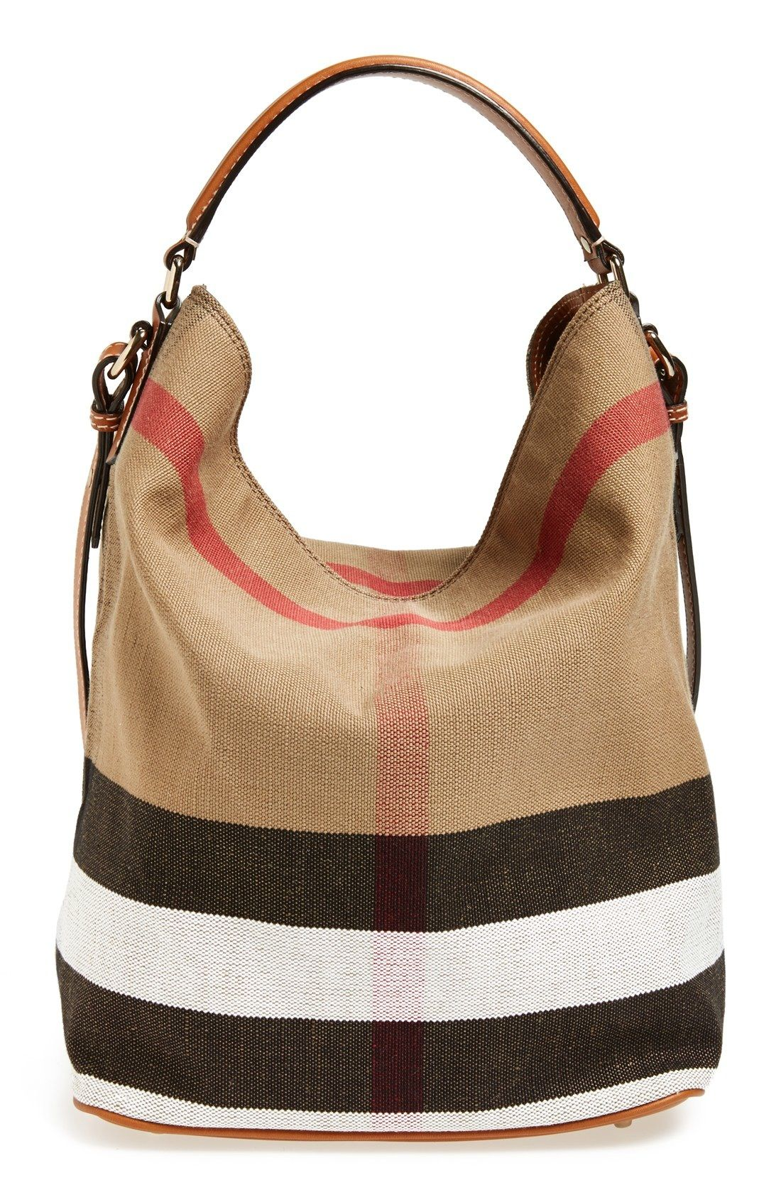 Burberry Brit  Medium Susanna  Check Print Bucket Bag available at   Nordstrom 460b95144e172