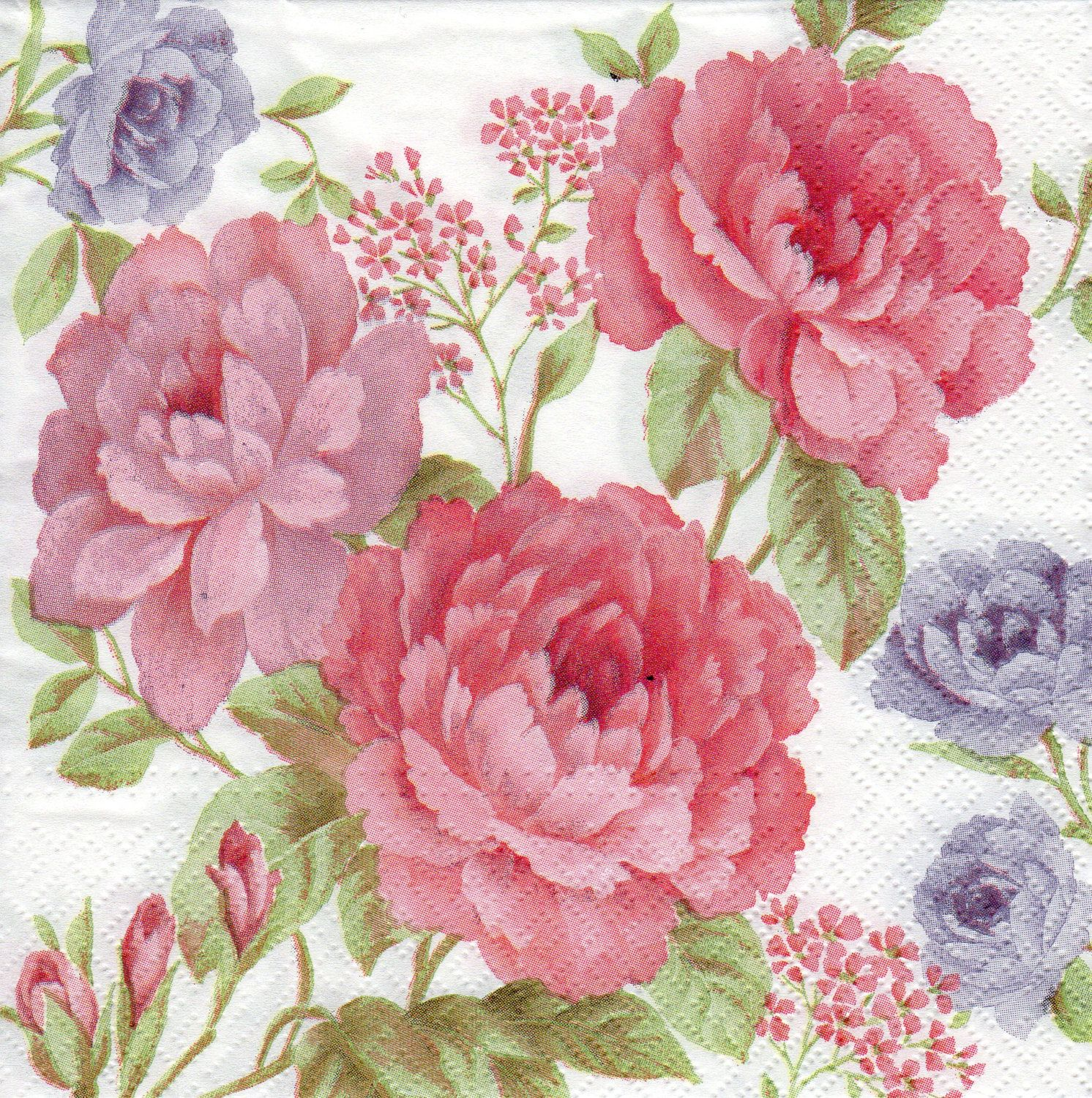 4 x Single Paper Napkins Decoupage Crafting and Table Tulip Flowers 13