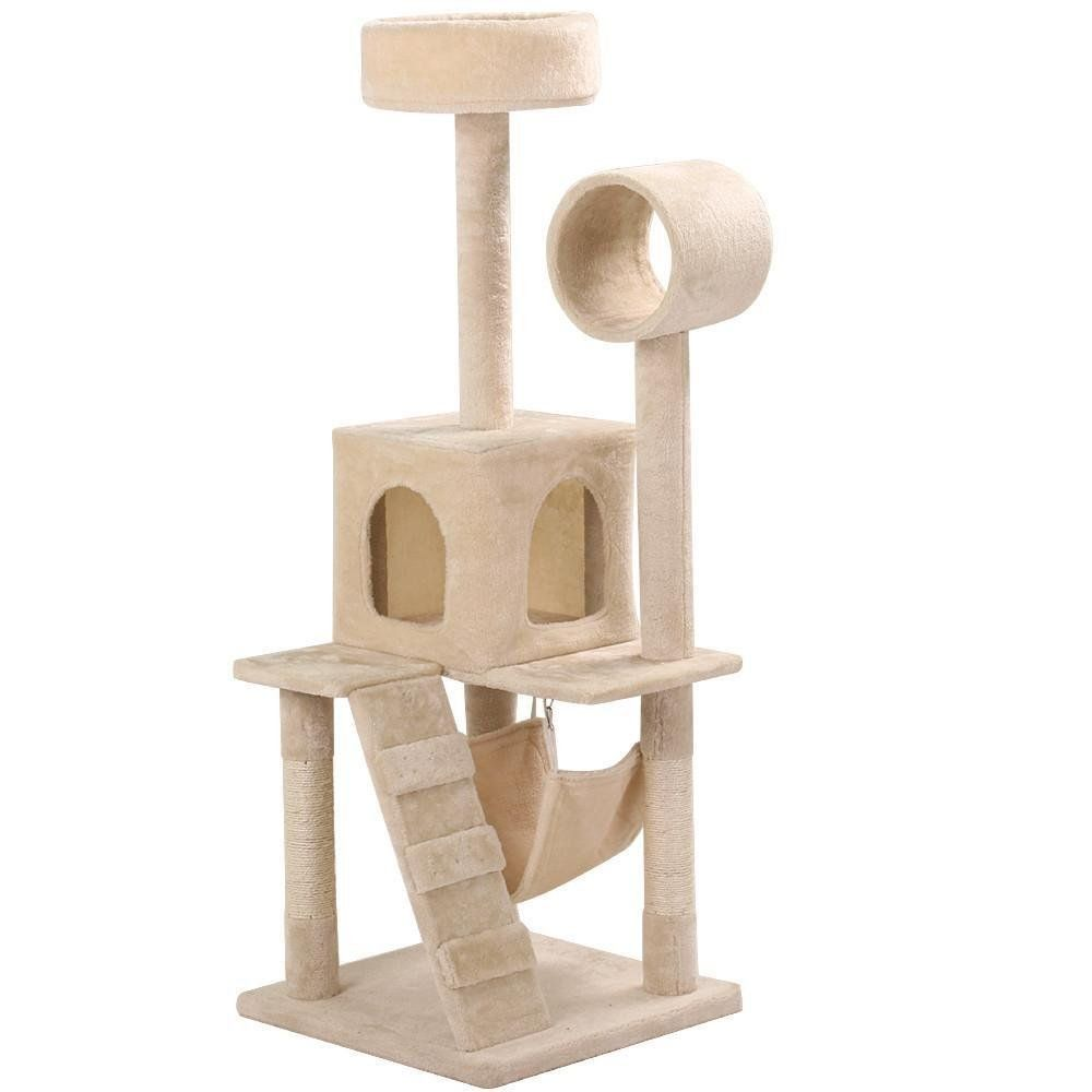 cat yaheetech 52 inch cat tree multi level tower with scratching post      rh   pinterest
