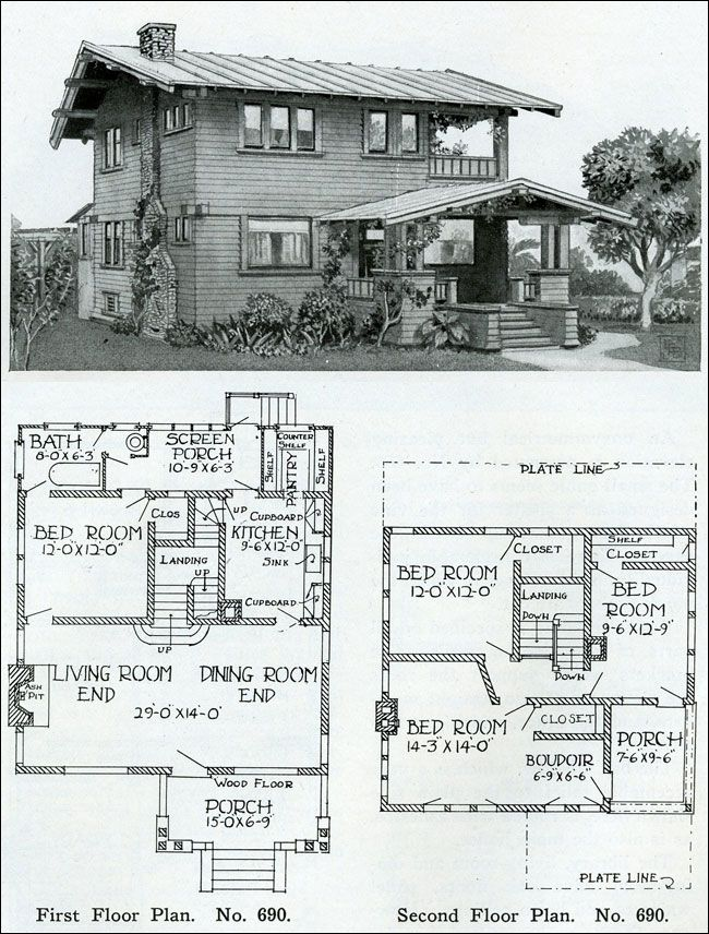 two story - 1910 - simple swiss chalet - henry wilson - the bungalow