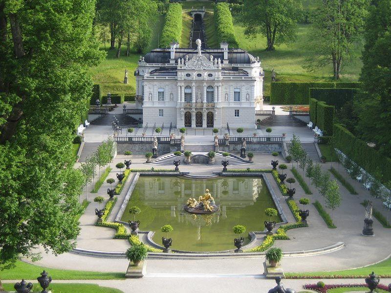 Linderhof Castle Bavaria Palacios Castillos Arquitectura