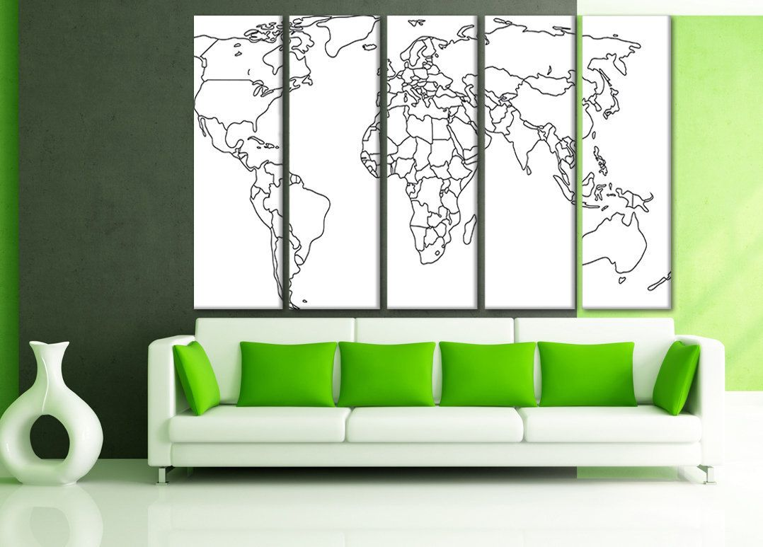World map stretched canvas large wall art world map white and black world map stretched canvas large wall art world map white and black world map canvas large wall art map large world map print white canvas gumiabroncs Gallery