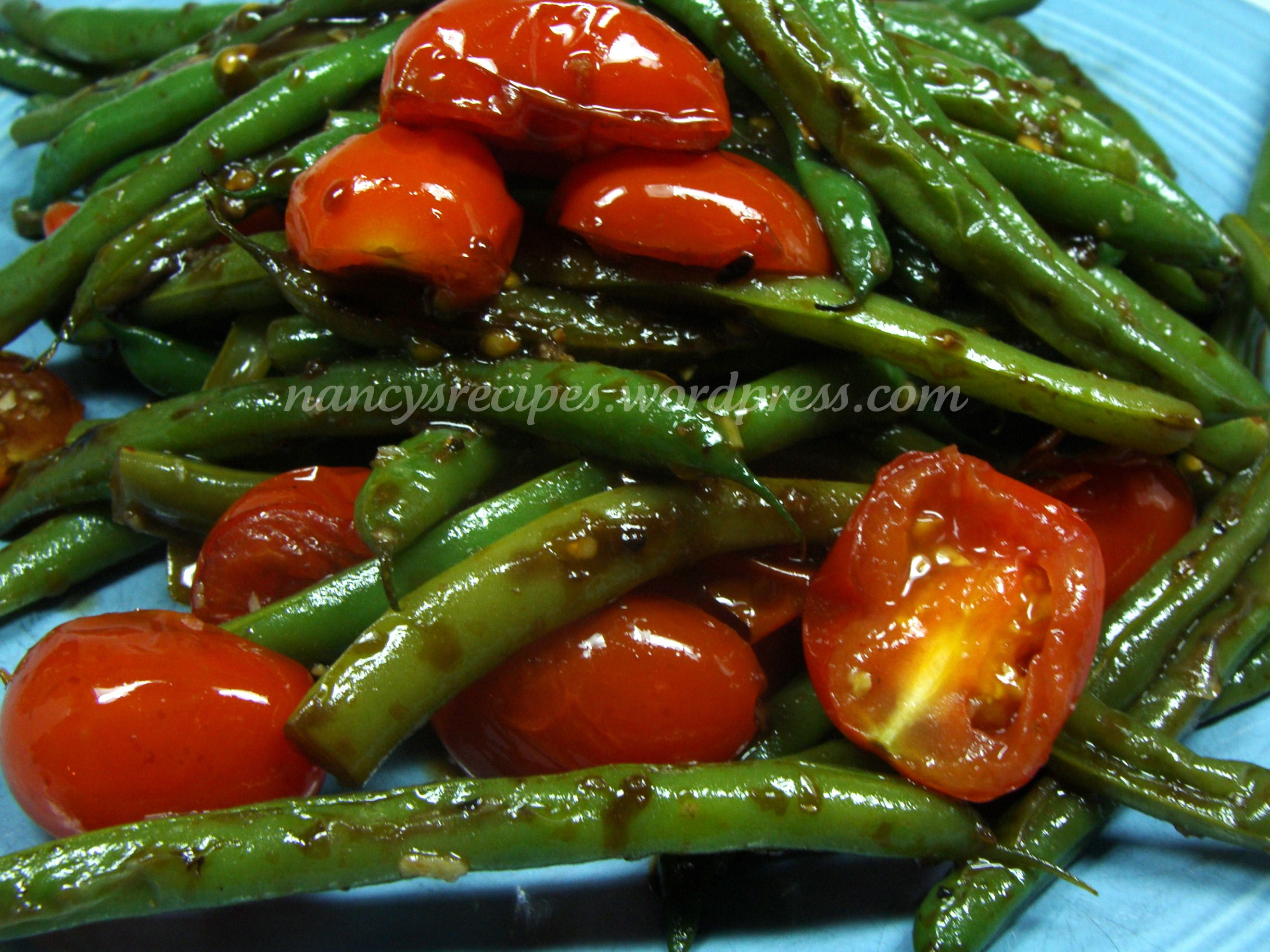 Green Beans With Cherry Tomatoes Green Beans Green Bean Recipes Bean Recipes