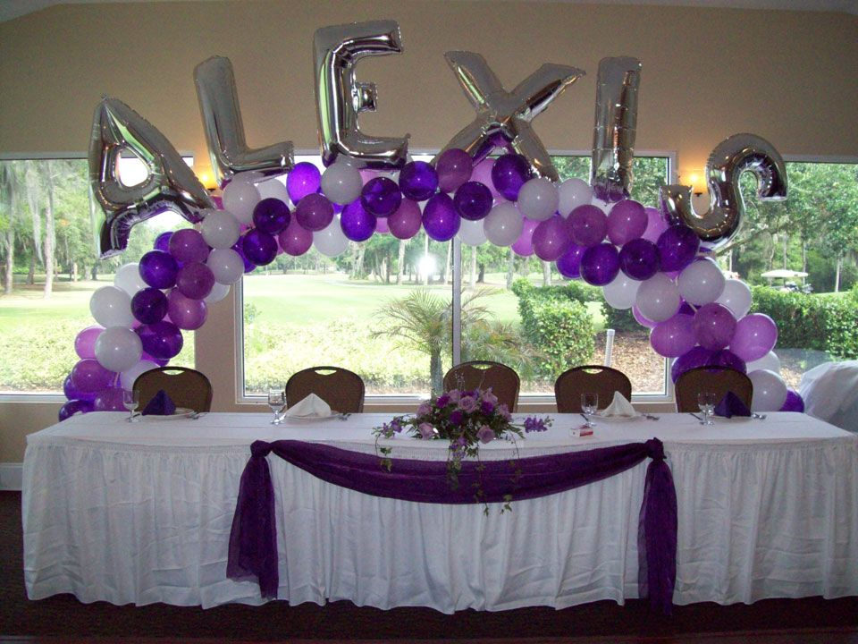 Images of quinceanera table decorations home gallery for Balloon decoration ideas for sweet 16