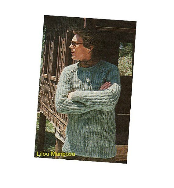 Vintage Knitting Pattern-70s Man by Liloumariposa on Etsy | Vintage ...