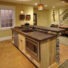 2 Level Countertop Bar To Divide Room Rustic Kitchen Island Custom Kitchen Island Kitchen Island With Sink