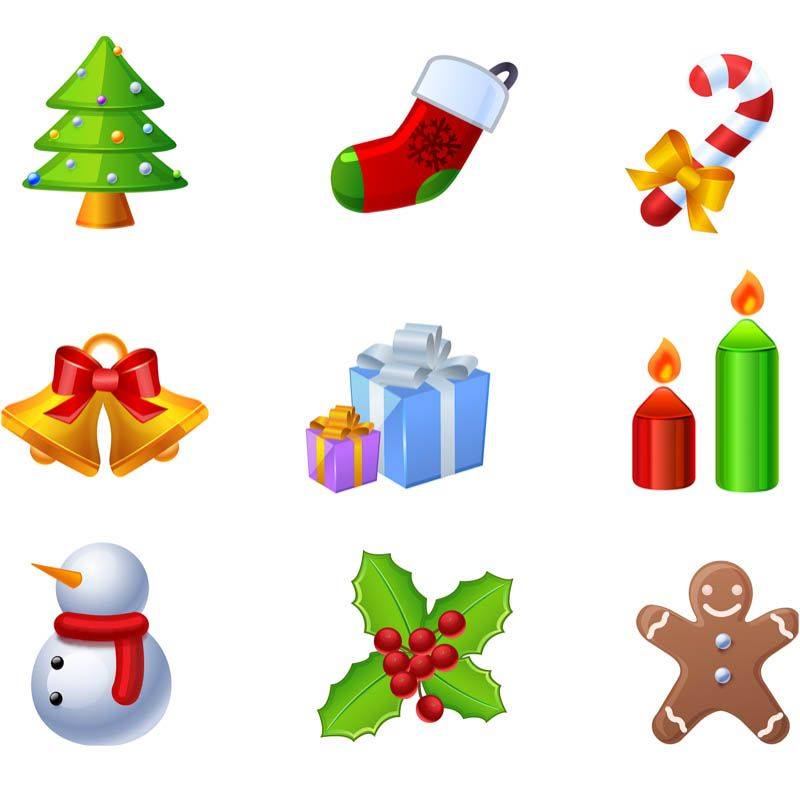 Cartoon Christmas Elements Vector Free Vector Graphic Resources