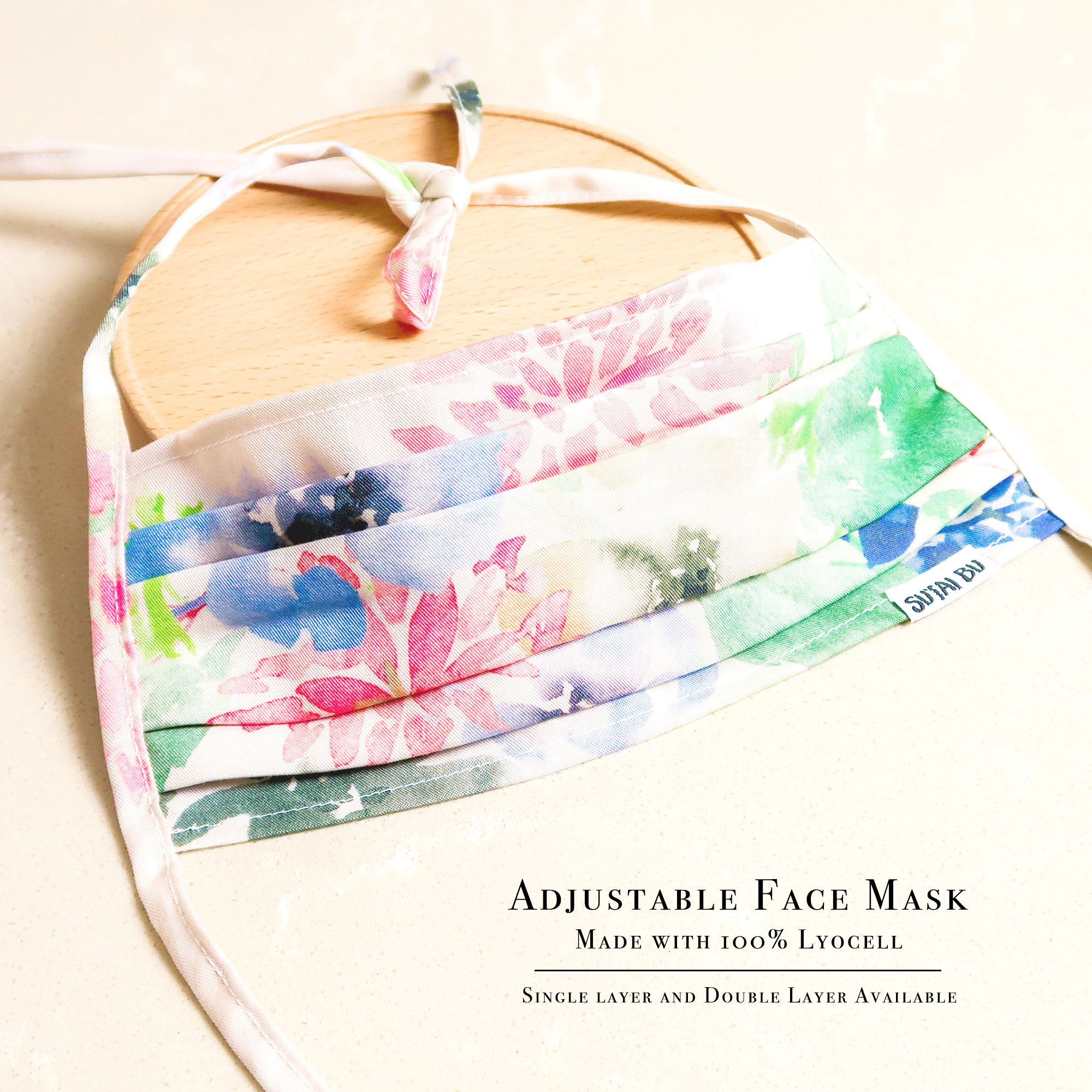 Adjustable Face Mask With Filter Pocket And Nose Wire | SUTAI BU