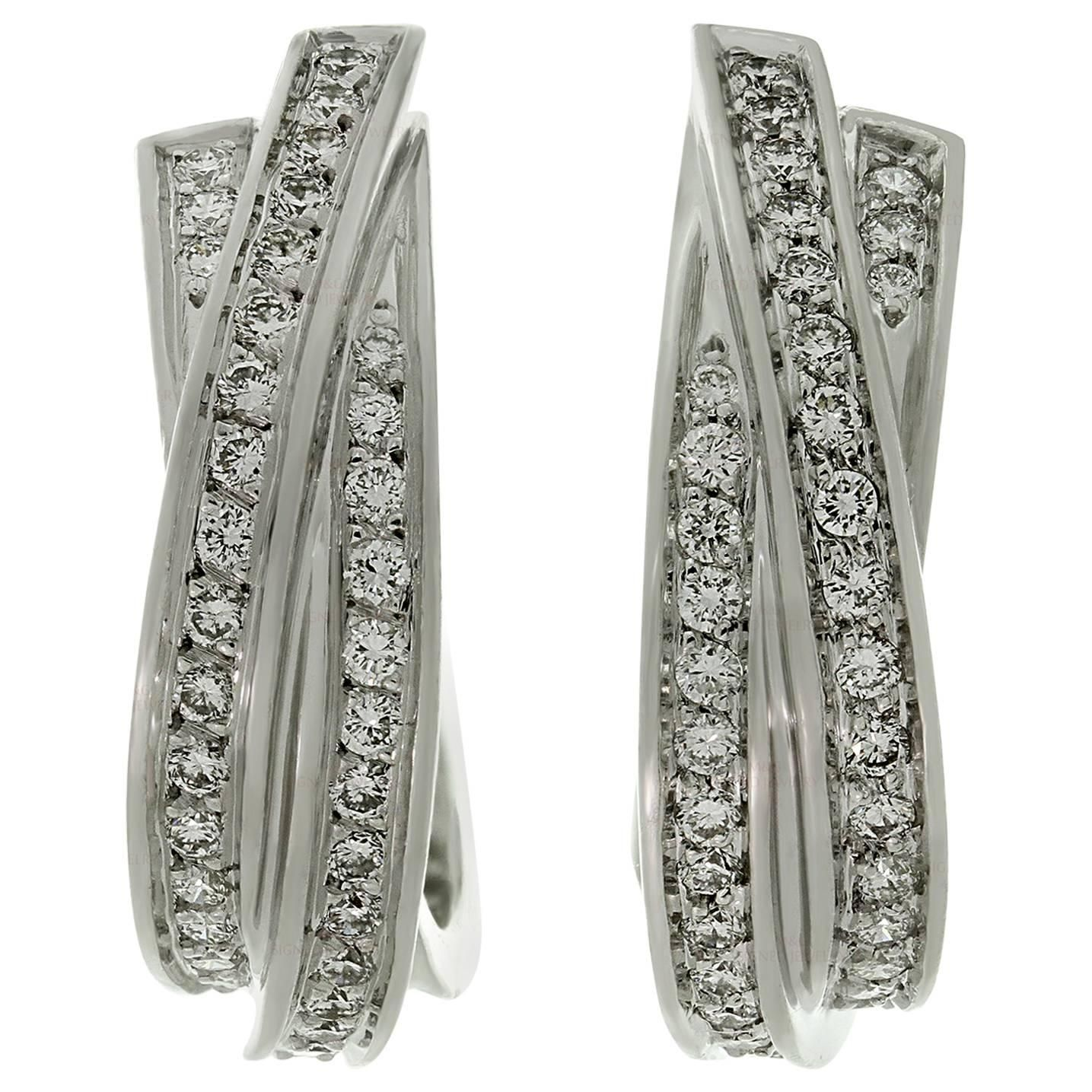 earrings cartier diamond com stud de trinity harrods gb en