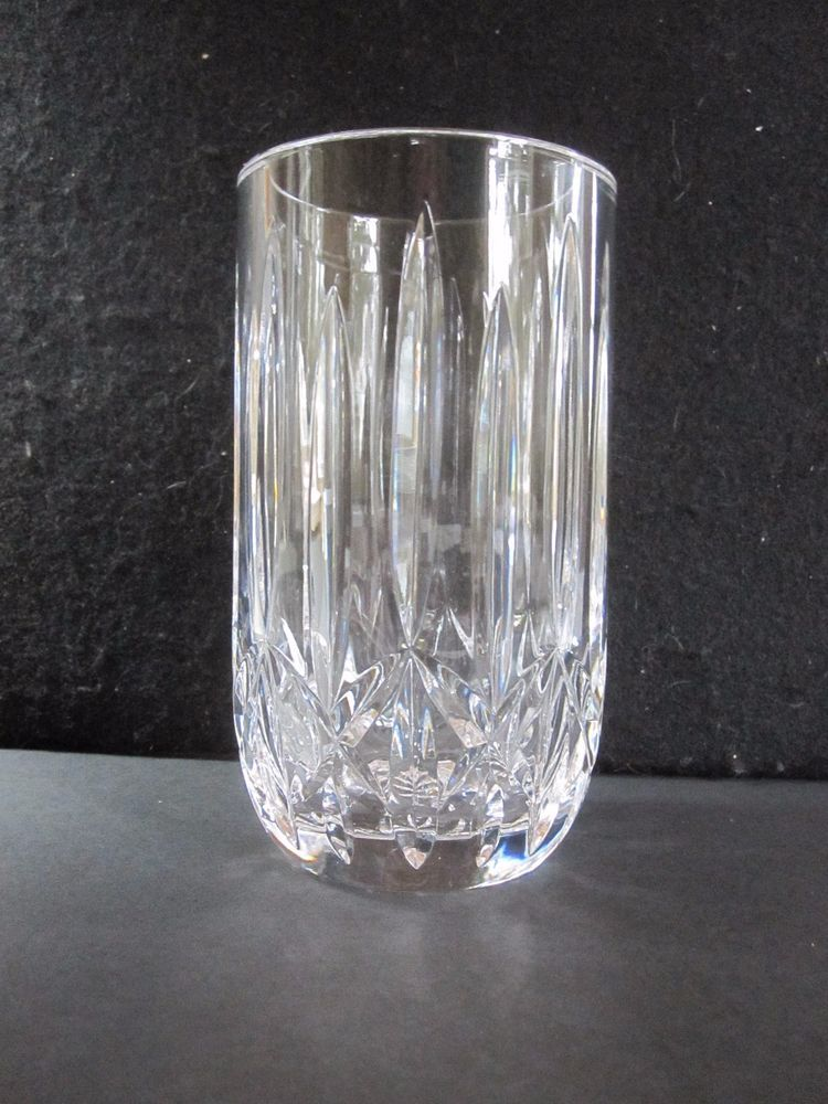Rare Discontinued Carlow By Waterford 6 Vase Cut Crystal Glass