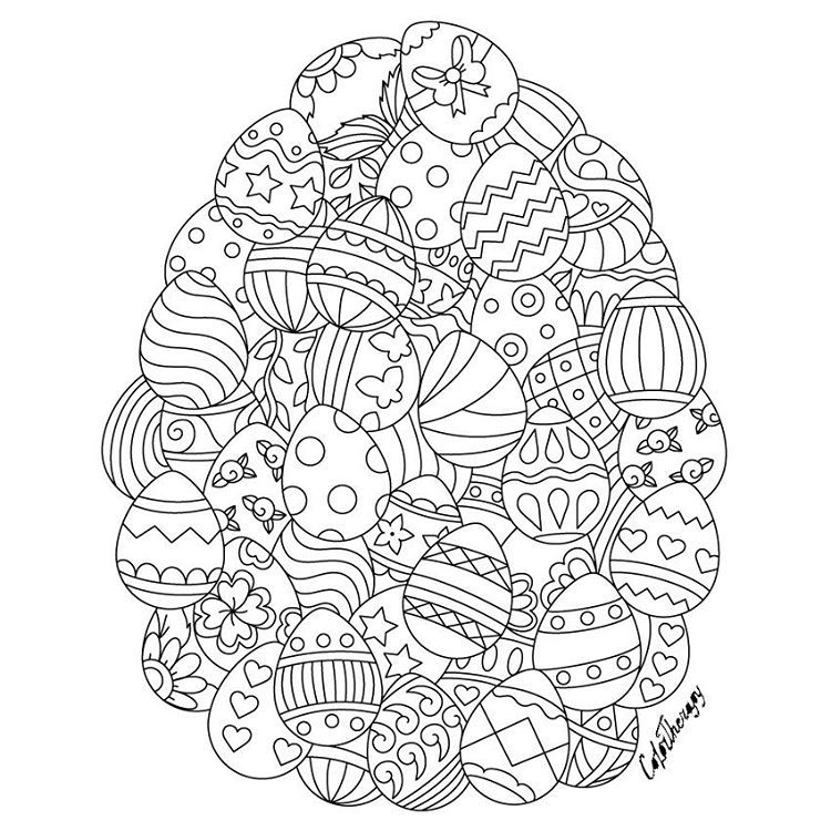 Coloring pages for adults app ~ Pin by Color Therapy App on Gift Of The Day #GOTD | Easter ...