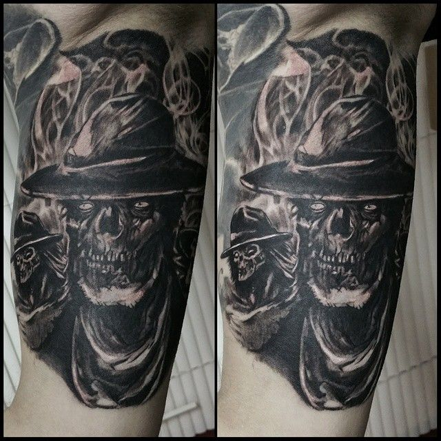my new volbeat outlaw ghoul tattoo by gareth unwin at talisman tattoo york all things that i. Black Bedroom Furniture Sets. Home Design Ideas