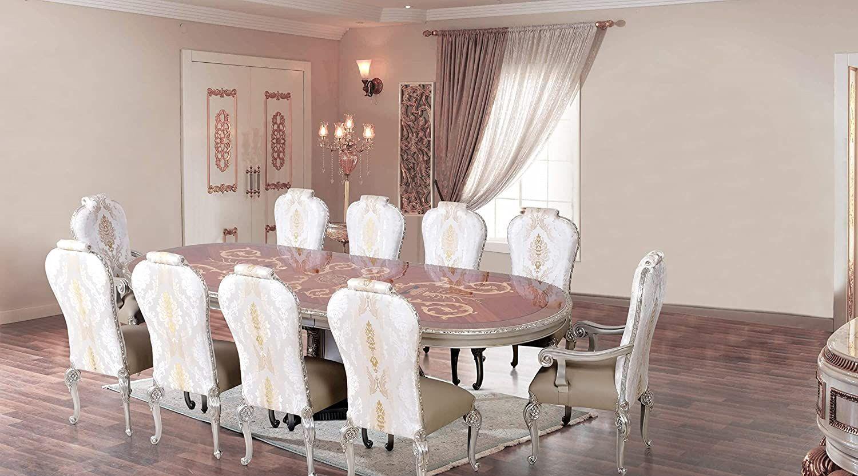 European Furniture 11 Pieces Bellagio Luxury Dining Set Luxury Dining Sets European Furniture Furniture