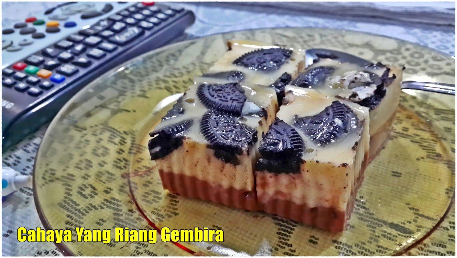 resepi puding karamel oreo recipes blog Resepi Kek Milo Cheese Enak dan Mudah