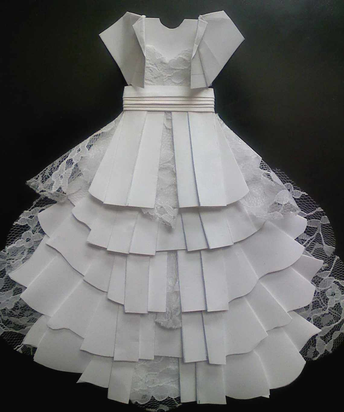 Origami ravishing origami dress origami wedding dress - Robe en origami ...