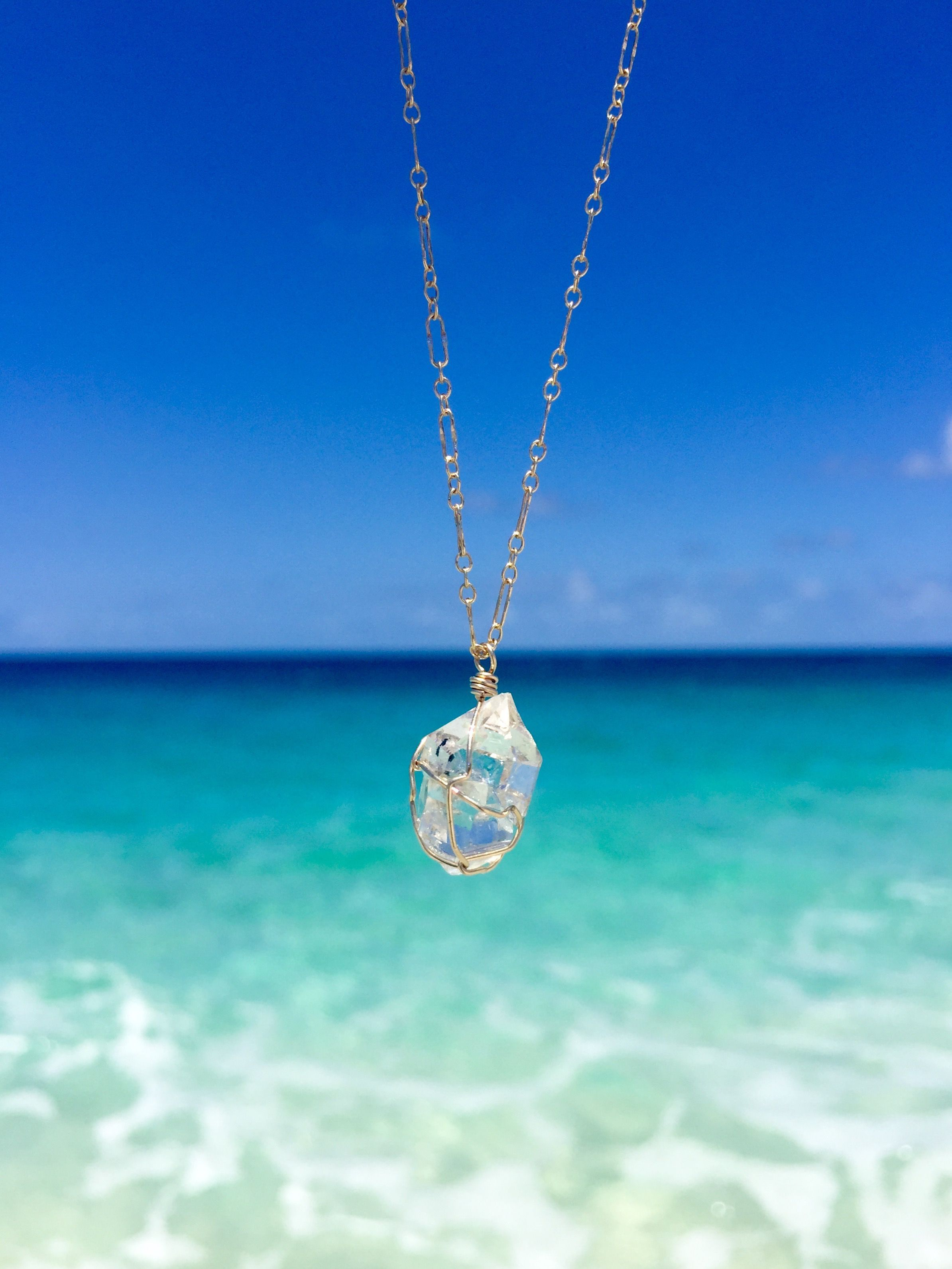 Our newest necklace huna the huna herkimer diamond necklace means