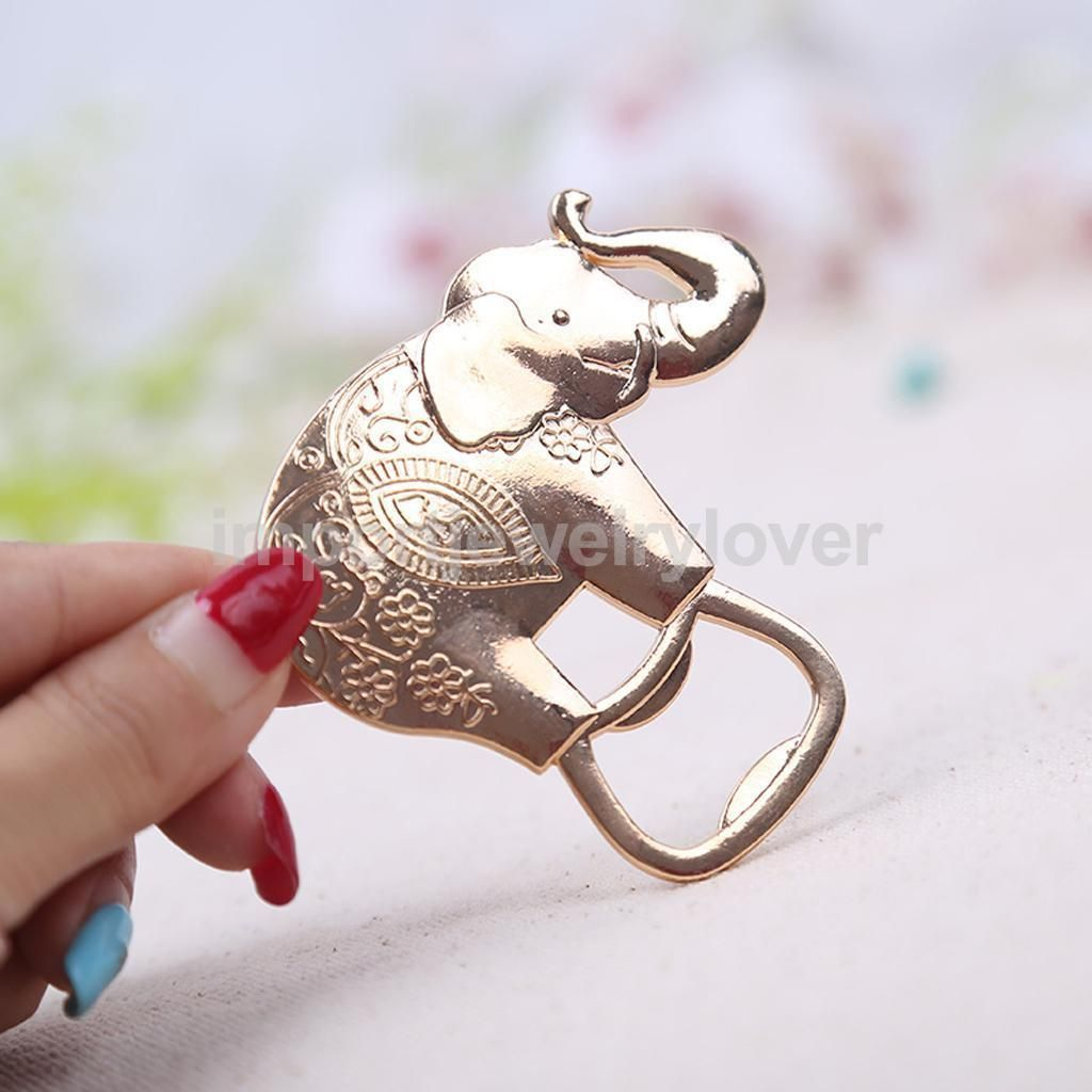 Copper Asian Indian Elephant Bottle Opener Anniversary Bridal ...