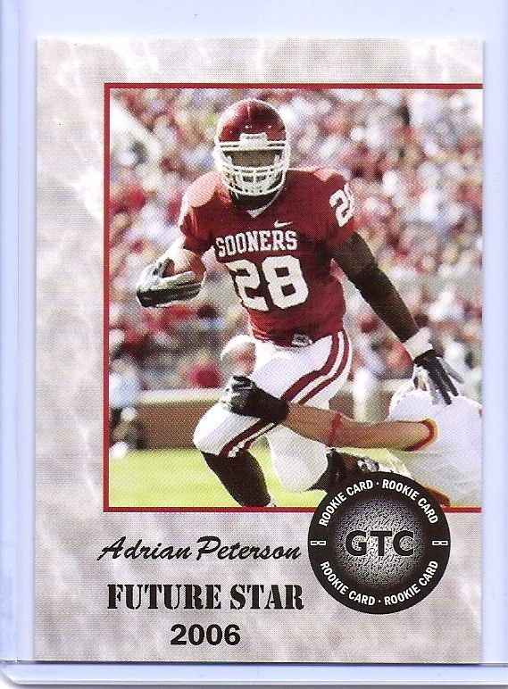 Adrian Peterson 2006 Future Star Oklahoma Sooners College