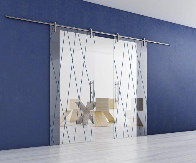 Porte in Vetro scorrevoli esterno muro a mantovana | MondoPorte Srl ...