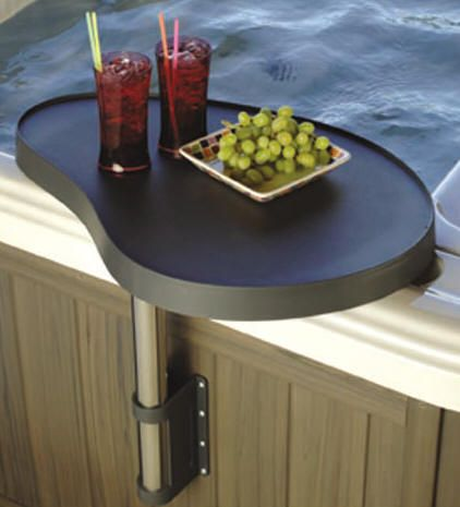 Spa Caddy Side Table Tray No Eating In The Hot Tub But A Place To Set Bevvies And Magazine Or Phone Is Good
