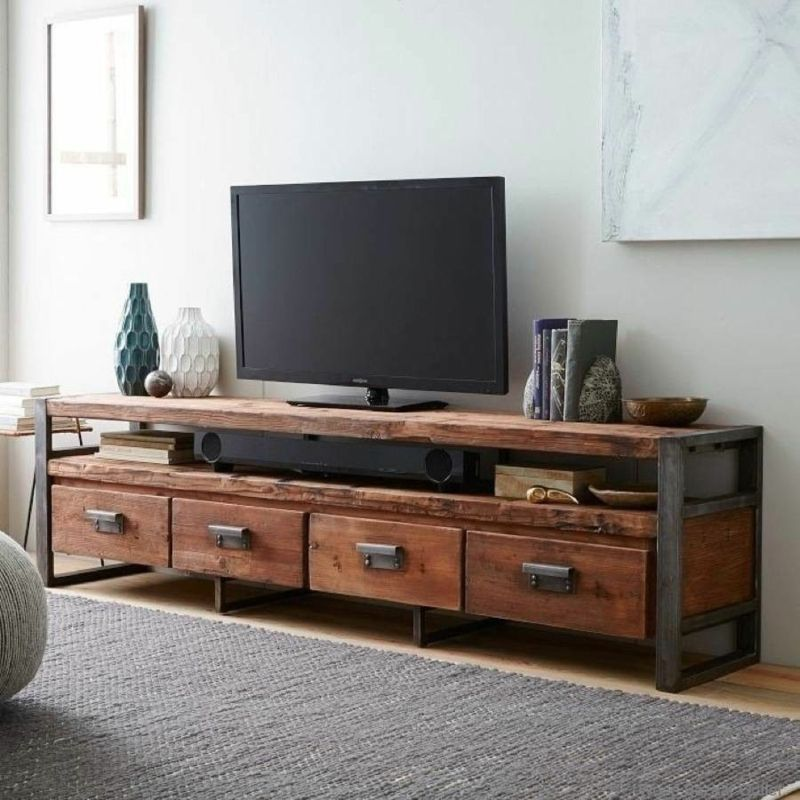 vintage TV Wohnwand Holzmöbel Ideen für TV Wände tv Pinterest - wohnwand ideen selber machen