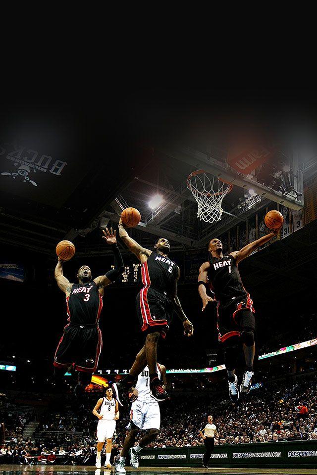 Freeios7 Miami Heat Dunks Parallax Hd Iphone Ipad Wallpaper Miami Heat Basketball Lebron James Miami Heat Heat Basketball