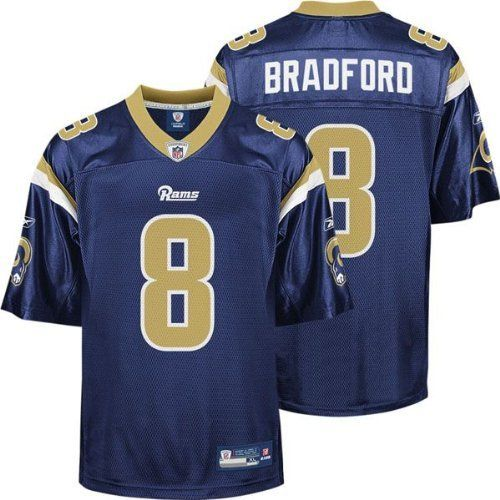 big sale 78e83 e82a6 St Louis Rams SAM BRADFORD #8 NFL Mens Replica Jersey, Navy ...