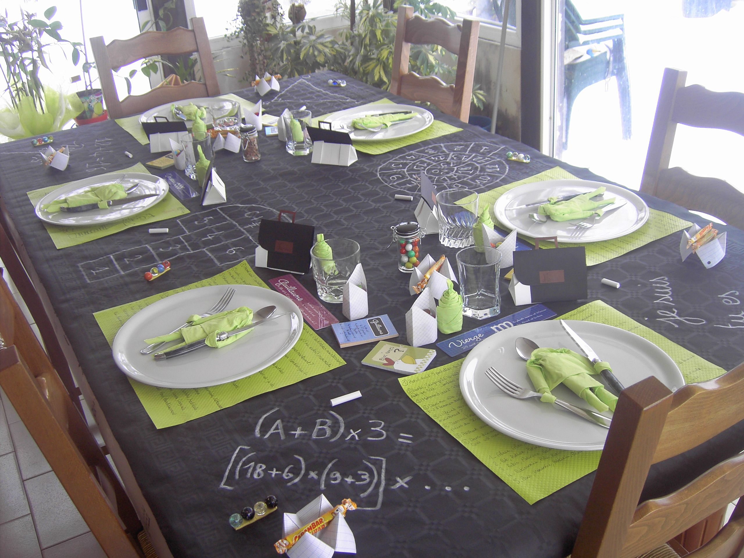 Idee Decoration Table Anniversaire