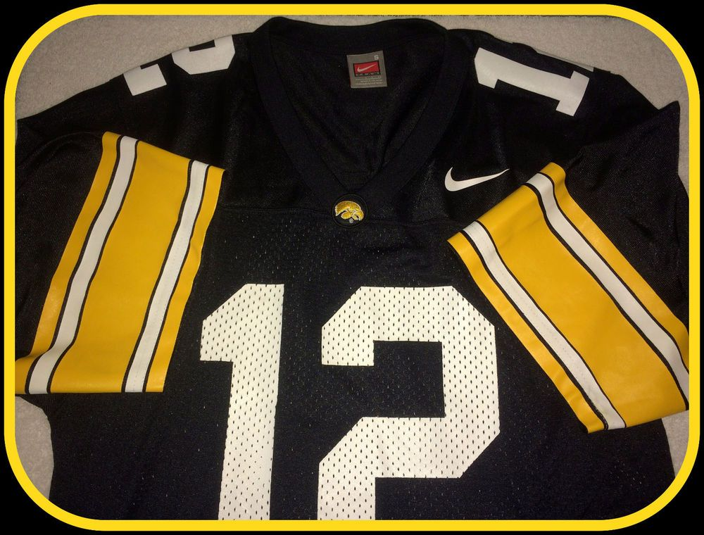 IOWA HAWKEYES ADULT SMALL NIKE REPLICA FOOTBALL JERSEY NUMBER 12 FREE  SHIPPING  Nike  IowaHawkeyes 984bb5410