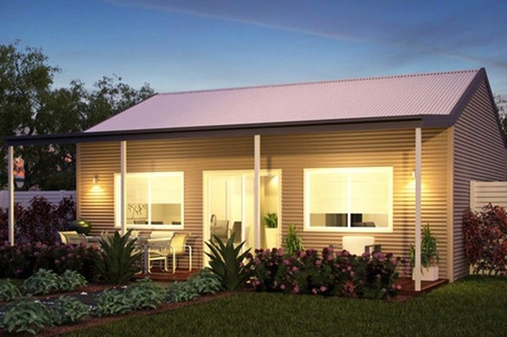 The Weekender A Large 2 Bedroom Kit Home With Some Excellent Design Features It Boasts 63 Sqm Internal Space And A Generous Kit Homes Granny Flat Shed Homes