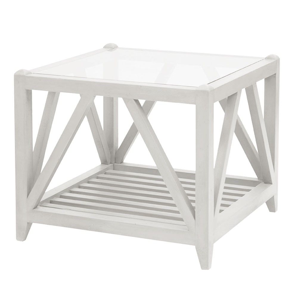 Awesome Portland Hamptons Side Table, 60sq By 50 High, $595
