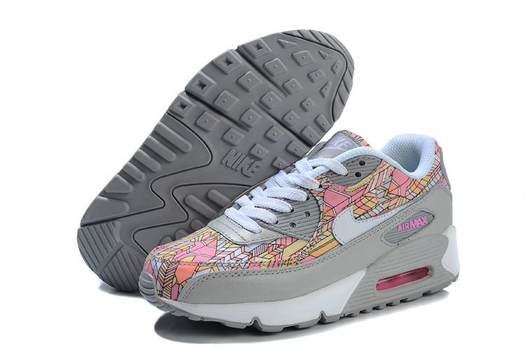 femme nike air max 90 chaussures blanc gris argent
