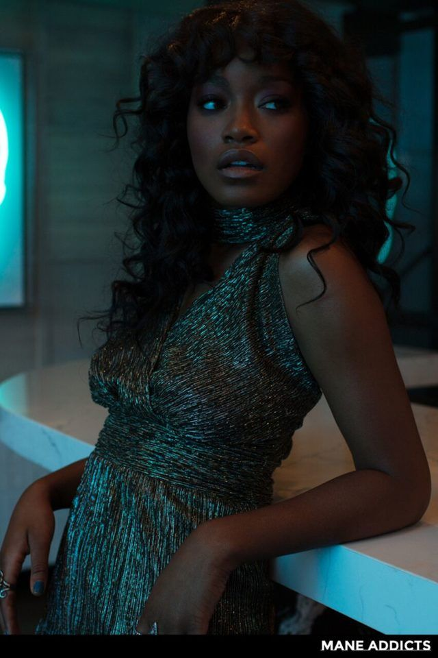 keke palmer lovely in long