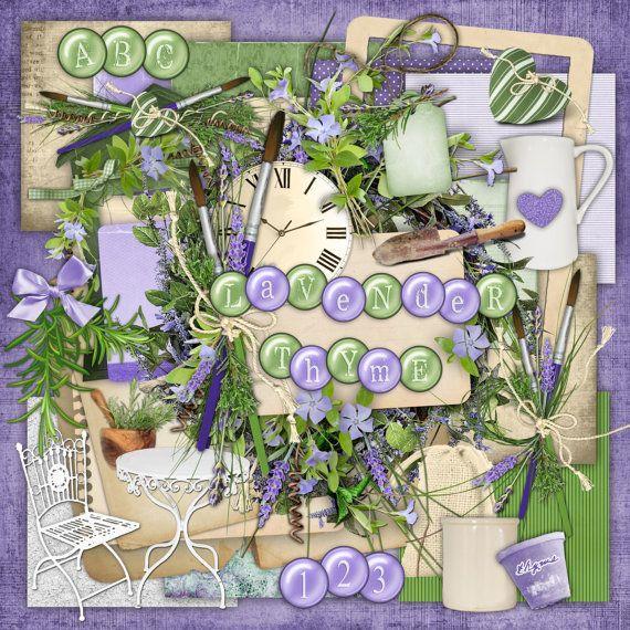 Lavender Thyme - Digital Scrapbook Kit (For my Aunt Bonnie Jean)