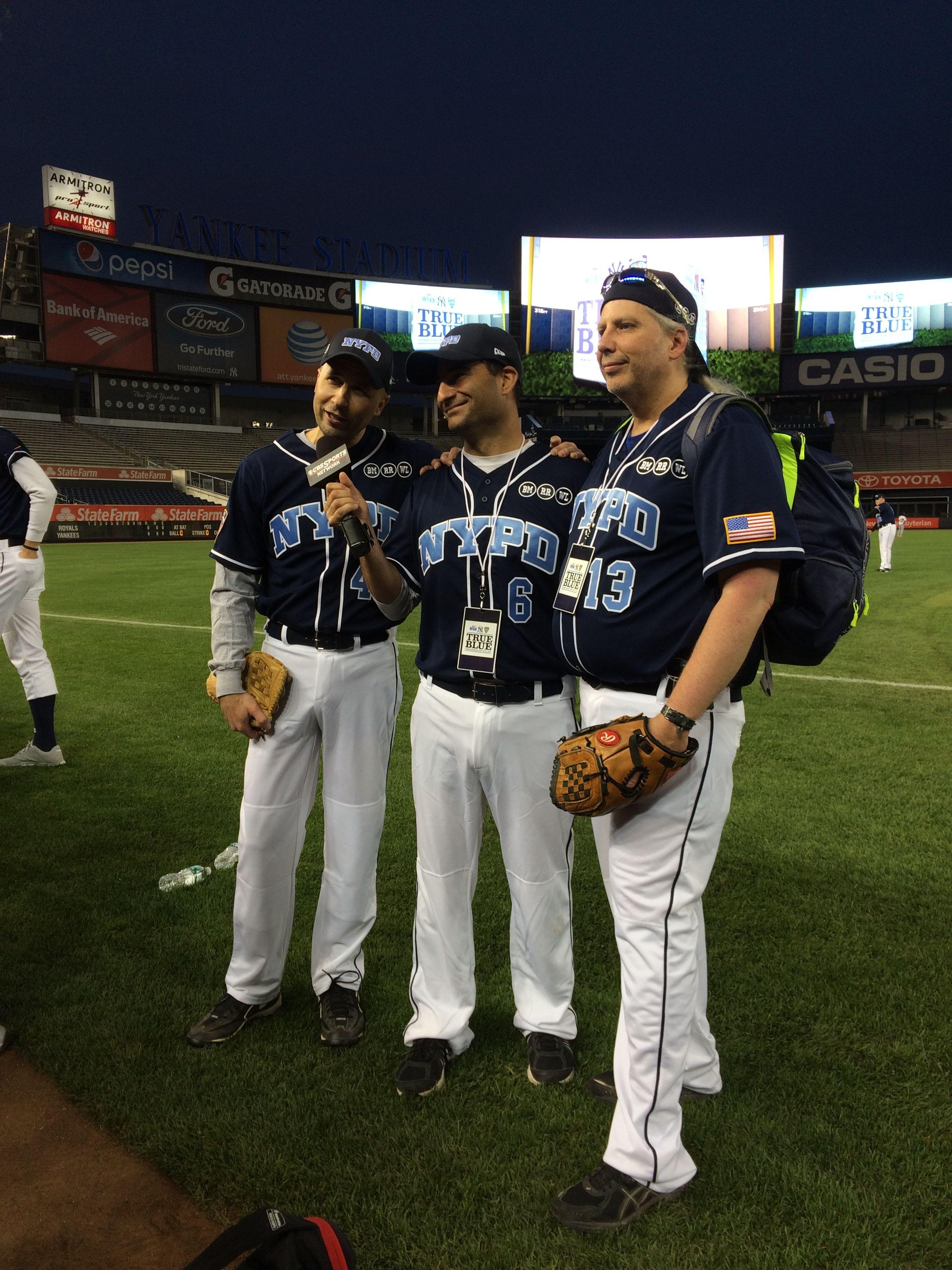 Wfan Staff Poses For A Picture Trueblue Nypd Boomerandcarton Hipnj Hipnjevent True Blue Softball Jersey