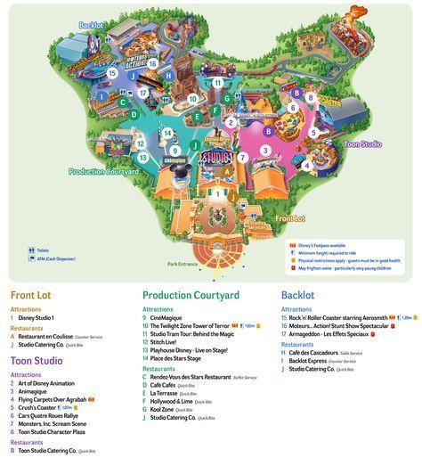 map of walt disney studios park of paris httpparismap360comdisneyland paris mapwirudd0izv8