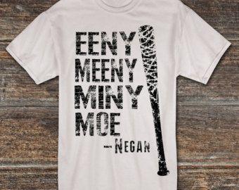 The Walking Dead Negan Saviors Skull Crossed Bats Faux Patch T-Shirt