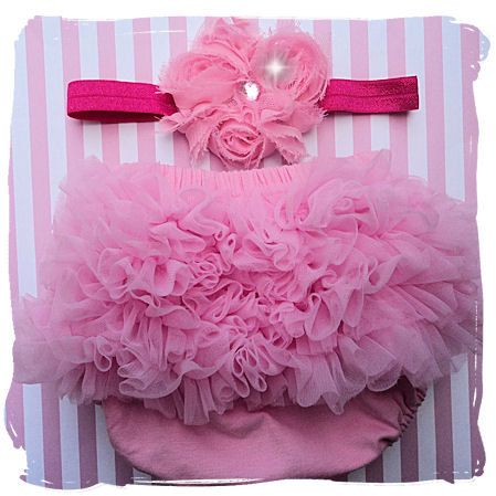 PINK BLOOMERS for Baby Girl Gift Set Pretty by HairBowHolders